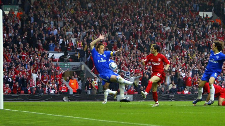 Luis Garcia scored the infamous 'ghost goal' which sent Liverpool into the 2005 final