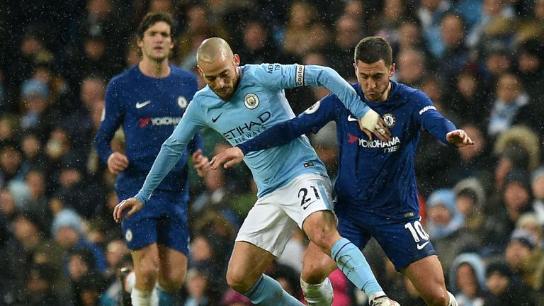 Eden Hazard claimed he only touched the ball 'three times' while playing up front in Chelsea's defeat against Manchester City