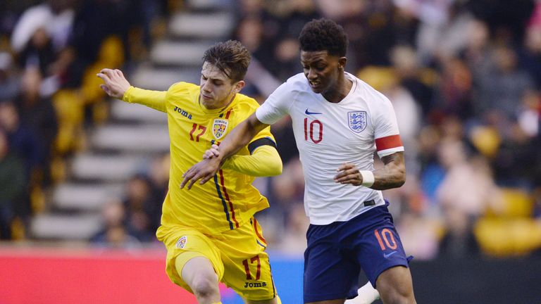 Demarai Gray captained England U21s to a 2-1 friendly victory over Romania on Saturday
