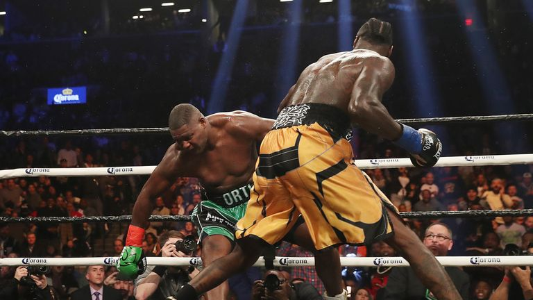 Wilder KO'd Ortiz in the 10th round