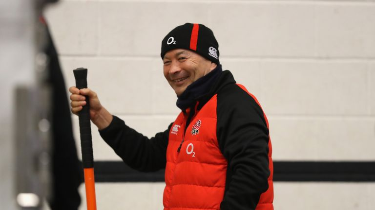 Head coach Eddie Jones has a contract with England until 2021