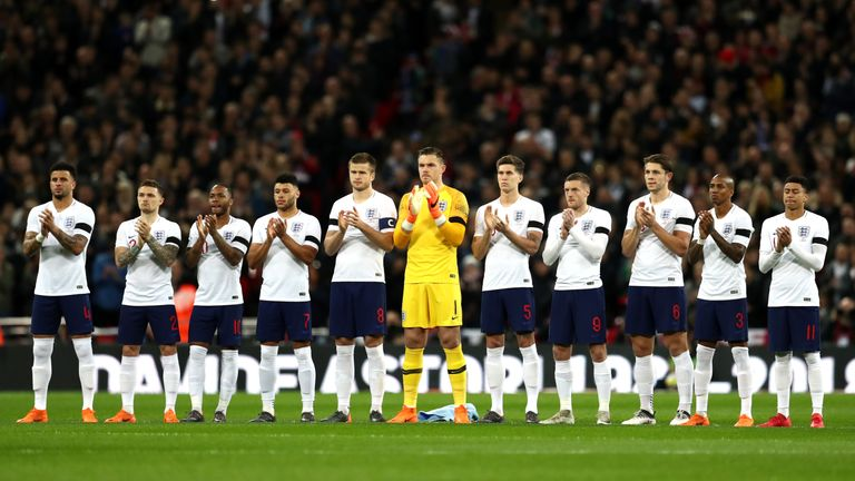 during the International friendly between England and Italy at Wembley Stadium on March 27, 2018 in London, England.