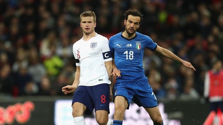 Eric Dier holds off Angel Correa