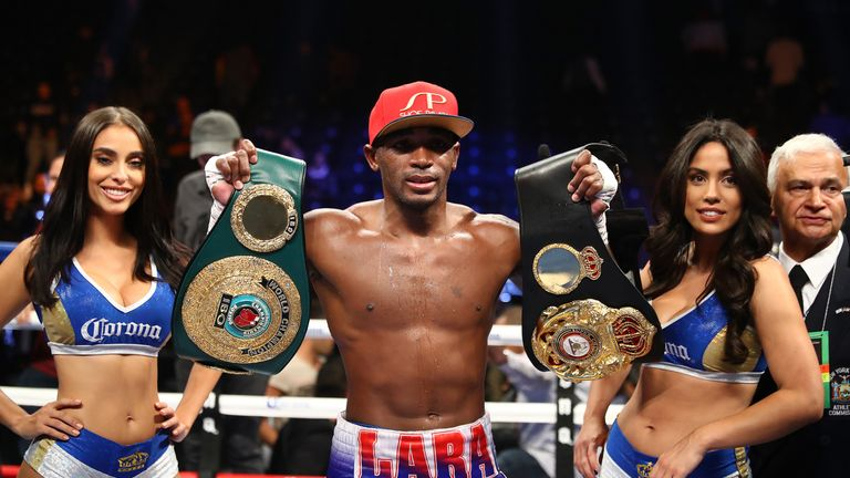 Erislandy Lara holds WBA and IBF belts at super-welterweight