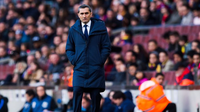 Image result for Ernesto Valverde says he Won't Leave Barcelona if he Wins Trophies