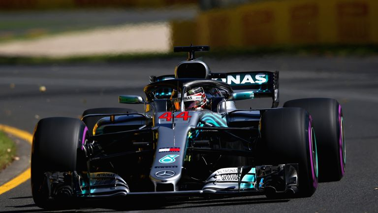Australian Gp Practice One Lewis Hamilton Sets Searing Early Pace