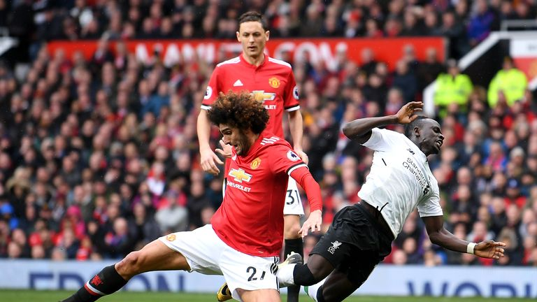 Marouane Fellaini contributed to United's win in the final stages