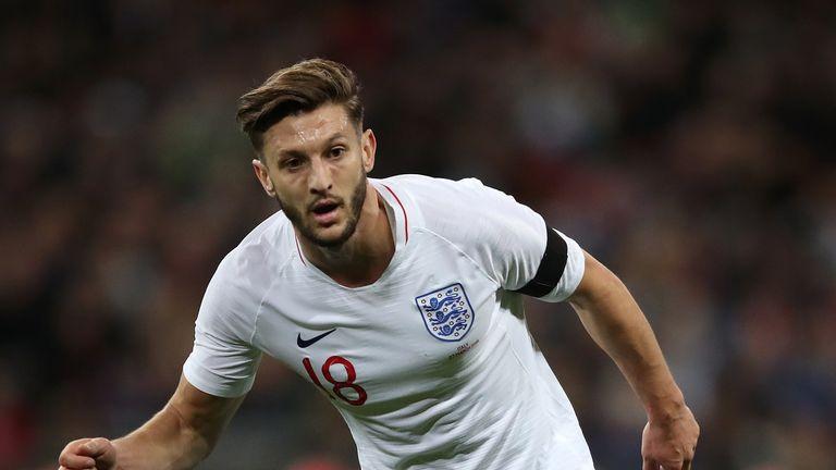 England midfielder Adam Lallana