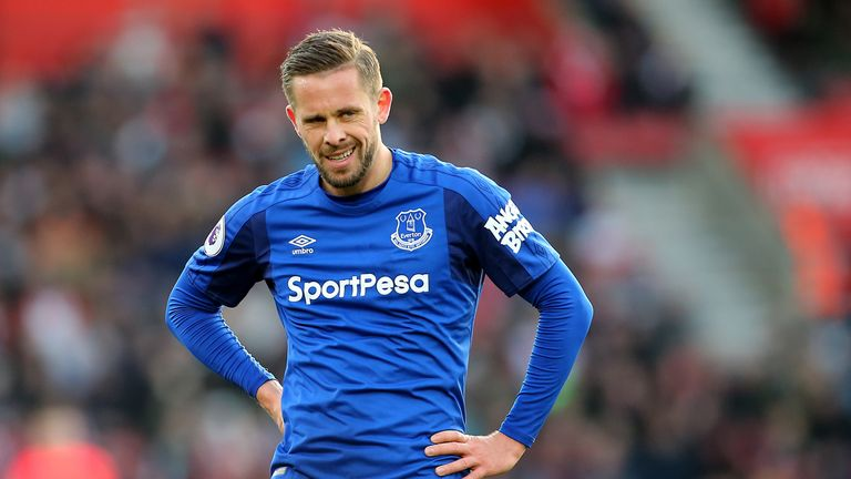 Everton midfielder Gylfi Sigurdsson
