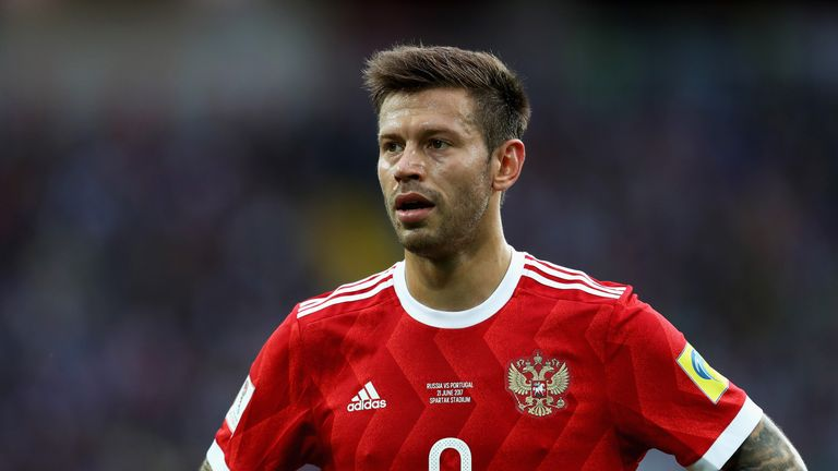 Fyodor Smolov during the FIFA Confederations Cup Russia 2017 Group A match between Russia and Portugal at Spartak Stadium on June 21, 2017 in Moscow, Russia.