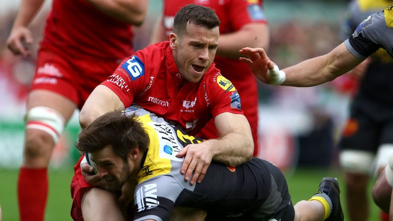 Gareth Davies and the Scarlets overcame La Rochelle to make it to the final four on Friday