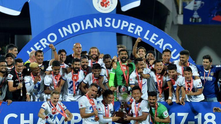 Chennaiyin celebrate 2018 Indian Super League title triumph
