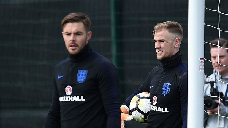 Jack Butland admits he called Joe Hart directly after the latter was left out of England's World Cup squad