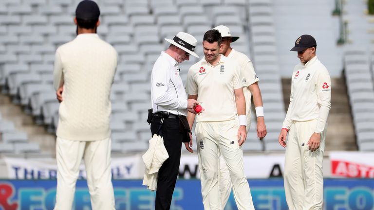 The pink ball had to be changed numerous times during the Test at Eden Park