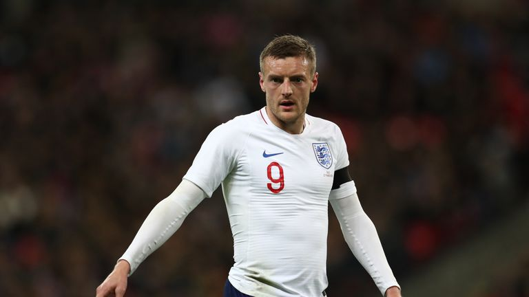 Jamie Vardy has scored four times for England since his debut in 2015