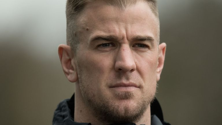 Joe Hart says he is focused on remaining England's first-choice goalkeeper for the World Cup