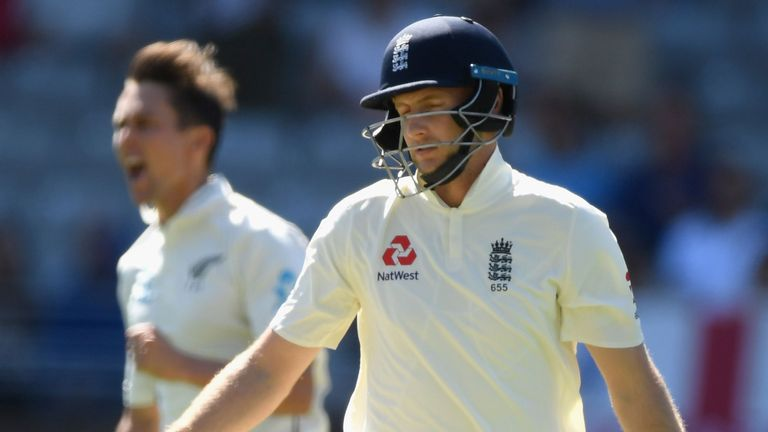 Joe Root wheels away in despair