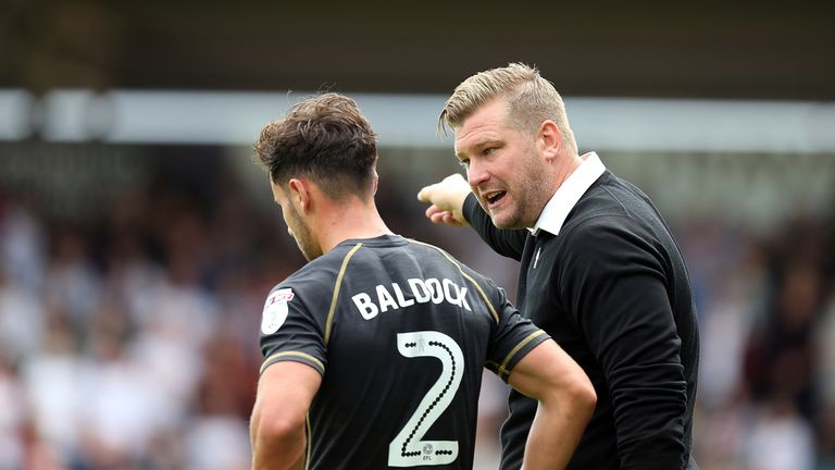 Karl Robinson during the Sky Bet League One match between Northampton Town and Milton Keynes Dons at Sixfields Stadium on September 4, 2016 in Northampton, England.