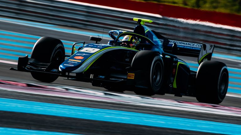 Lando Norris in action during testing at Paul Ricard