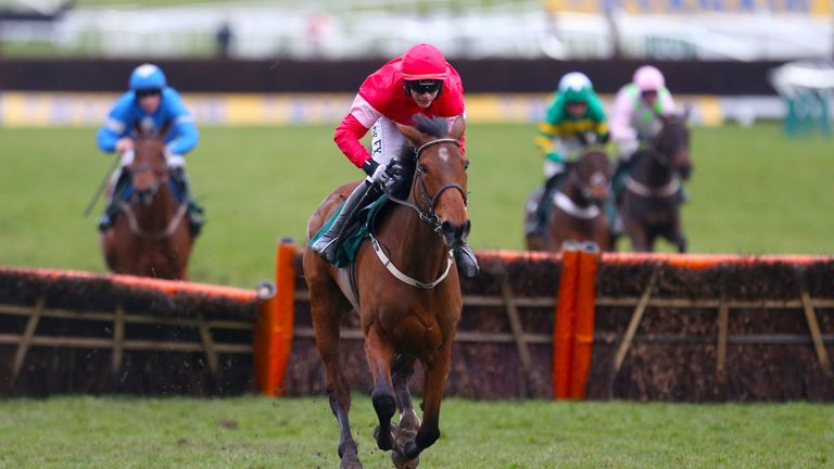 Laurina ridden by jockey Paul Townend on his way to winning the Trull House Stud Mares Novices' Hurdle