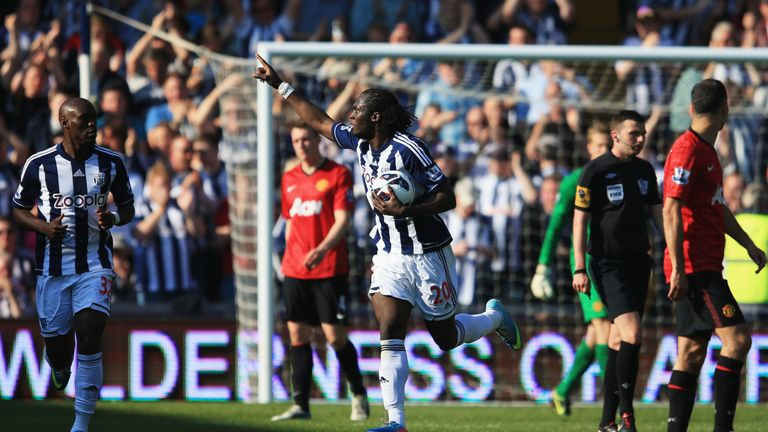 Lukaku scored Premier League goals during West Brom loan spell