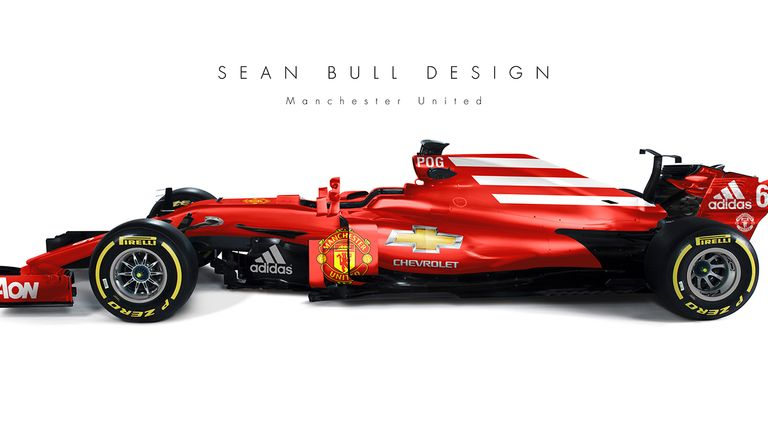 What would Premier League kits look like on Formula One cars