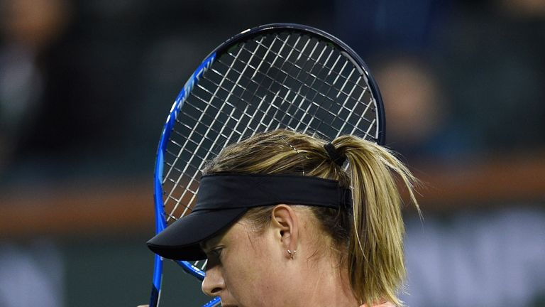 2b00d310e99c Indian Wells  Maria Sharapova crashes out early after losing to Naomi Osaka
