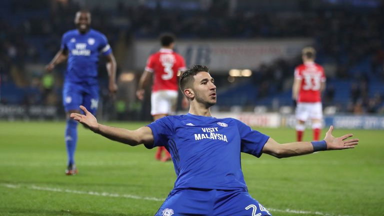 Grujic scored one goal in 14 appearances for Cardiff during the second half of last season