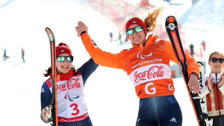 Menna Fitzpatrick and Jen Kehoe have won their third medal at the 2018 Winter Paralympics