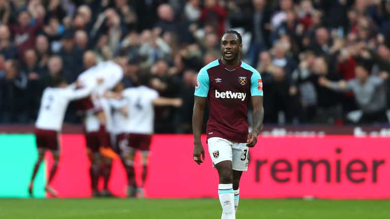 Michail Antonio scored twice for West Ham on Wednesday