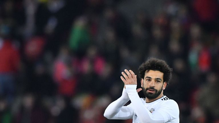 Mohamed Salah continued his fine scoring form for Egypt