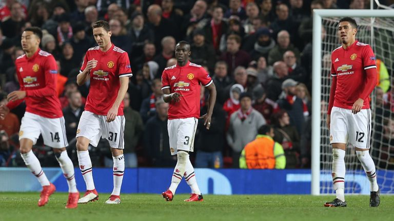 Manchester United fell 2-1 to Sevilla at Old Trafford to crash out of the Champions League last 16