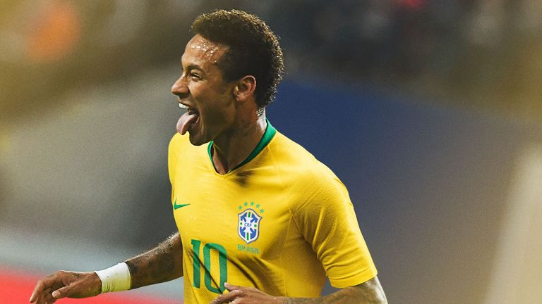 Neymar appears to be winning his race to be fit for the World Cup after foot surgery