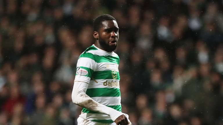 GLASGOW, SCOTLAND - JANUARY 30:  Odsonne Edouard of Celtic controls the ball during the Scottish Premier League match between Celtic and Heart of Midlothian at Celtic Park on January 30, 2018 in Glasgow, Scotland. (Photo by Ian MacNicol/Getty Images)
