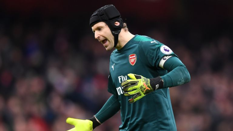 Cech is the first goalkeeper to achieve the feat in the Premier League's history.