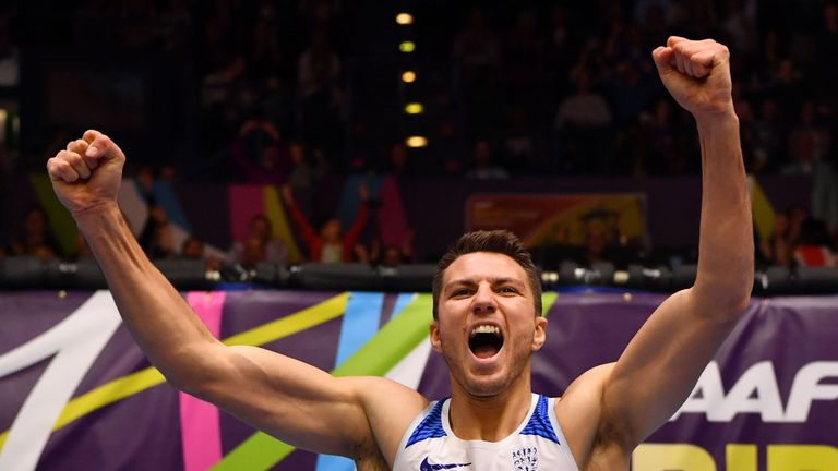 Pozzi stormed home for a stunning 60m hurdles gold on Sunday