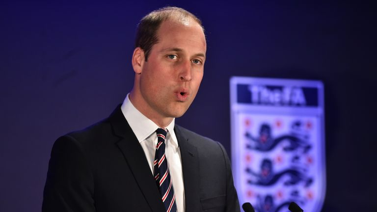 Prince William is the President of The FA