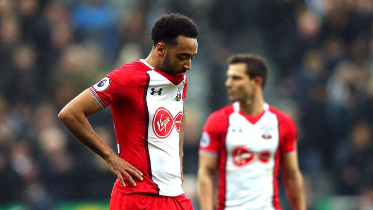 Nathan Redmond reacts during Southampton's defeat