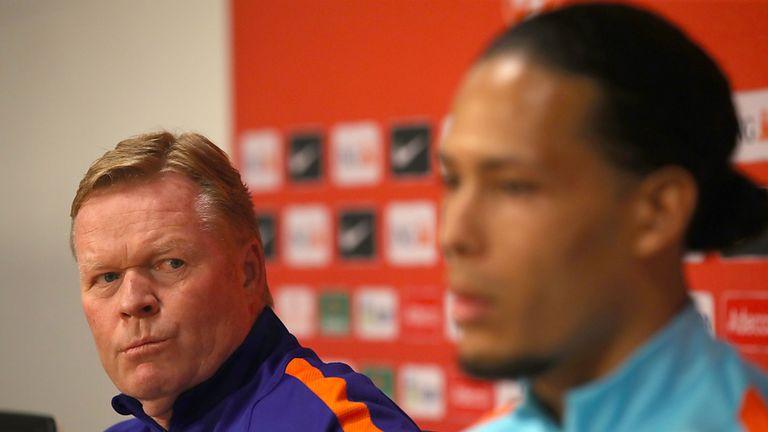 Koeman was due to lead the Netherlands in next year's European Championships