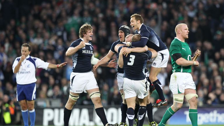 Scotland's last away win in the Six Nations - excluding Rome - was in Croke Park in 2010