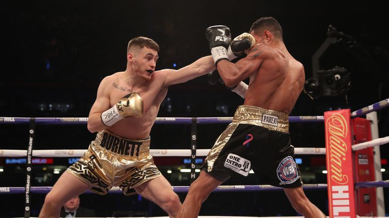 Burnett's jab was effective from the opening rounds
