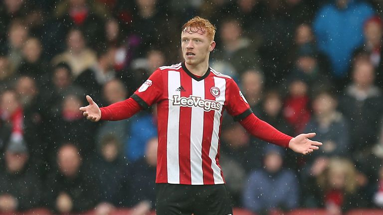 Brentford's Ryan Woods could be leaving the club for Championship rivals Stoke