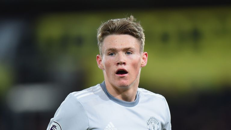 Scott McTominay of Manchester United during the Premier League match between Crystal Palace and Manchester United at Selhurst Park