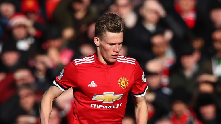 Scott McTominay during the Premier League match between Manchester United and Chelsea at Old Trafford
