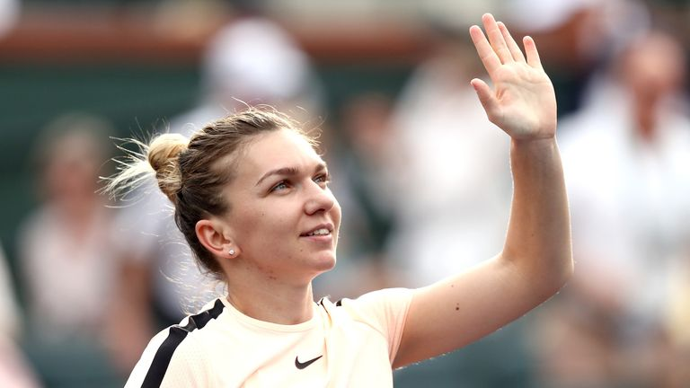 Simona Halep came through in three sets at Indian Wells on Sunday