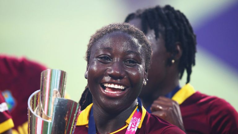 Stafanie Taylor led the Windies to their first World T20 title with victory over Australia in 2016