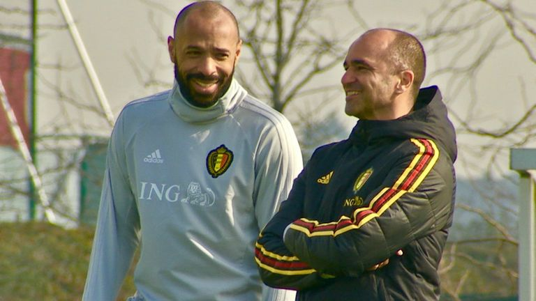 Thierry Henry has worked as Roberto Martinez's assistant with the Belgium national team for two years