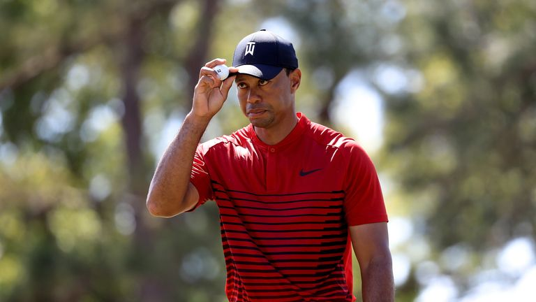 Woods briefly shared the lead during the final round in Florida last week