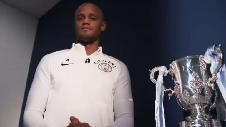 Vincent Kompany won the Carabao Cup again on Sunday