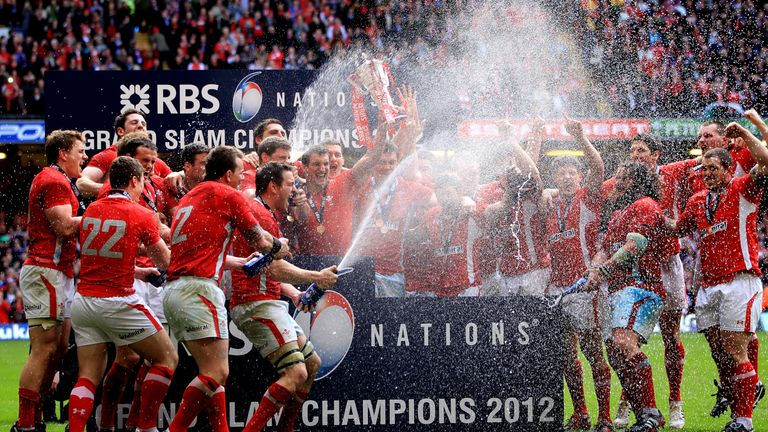 Wales' 2012 celebrations having secured a Grand Slam in Cardiff